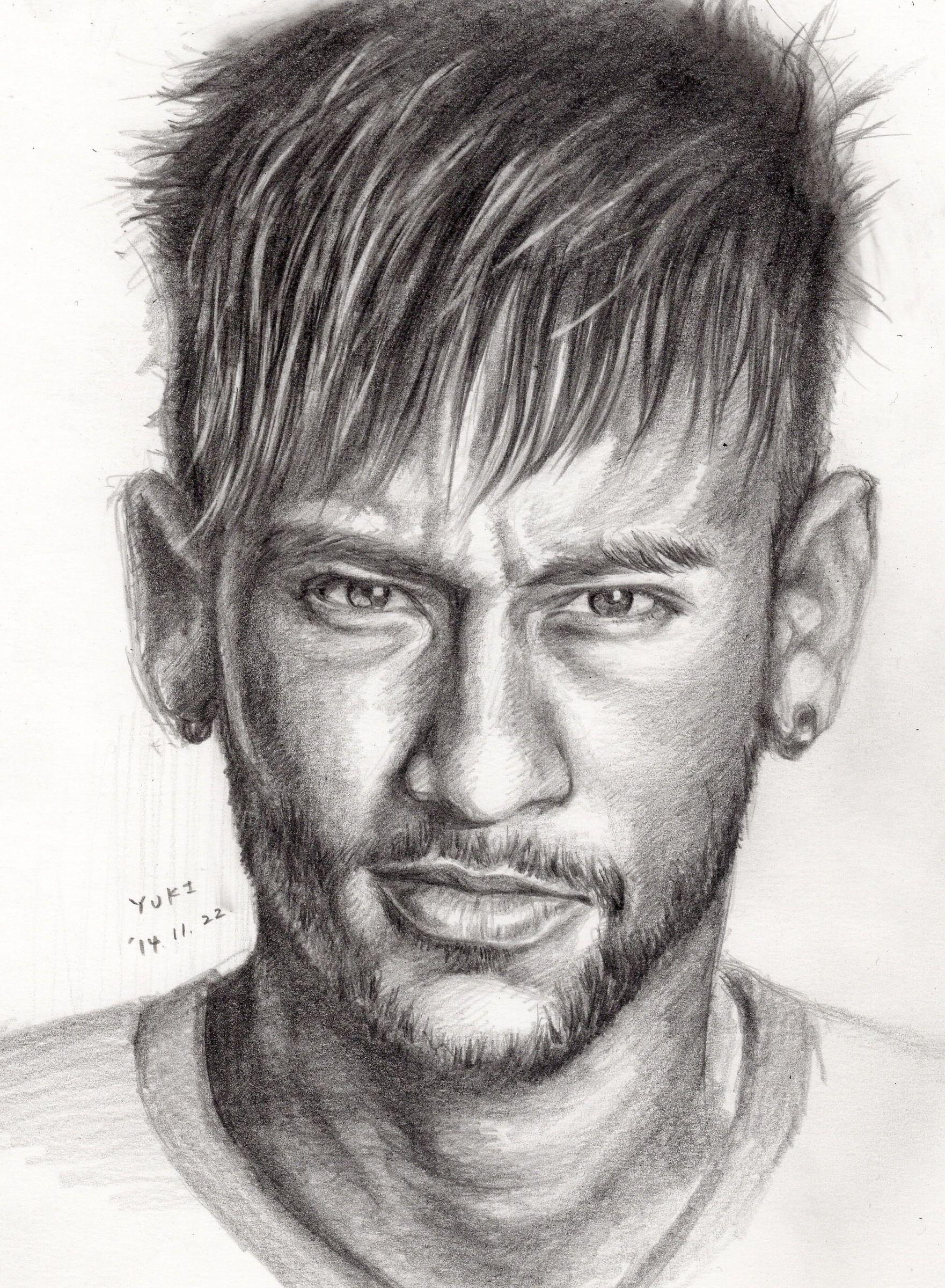 Neymar Da Silva Santos Júnior Pencil B Desenhos