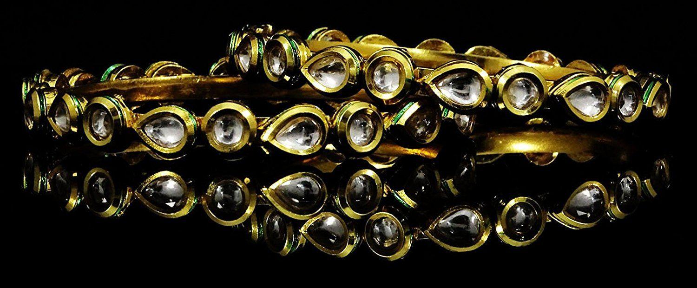 Matra new ethnic traditional pieces goldtone kada bangle bracelet