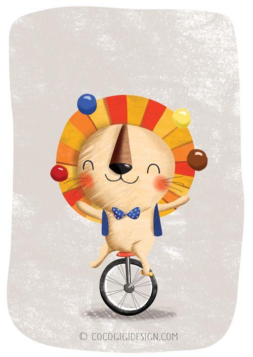 Coco Gigi Design Pinch Punch Post Lion Illustrations