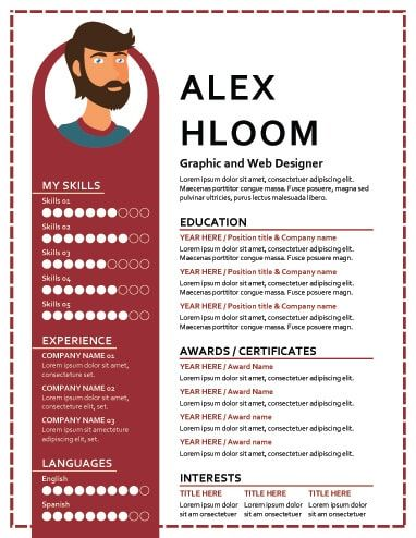 17 Infographic Resume Templates Free Download Infographic