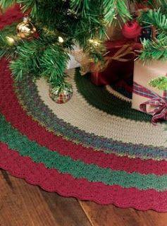 Free Christmas Tree Skirt Crochet Pattern Yahoo Answers