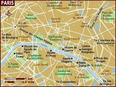 map of paris famous sites as our seating arrangement