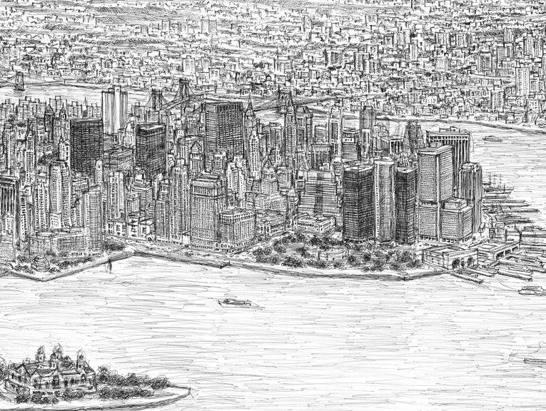 New York Panorama In 2020 Stephen Wiltshire Amazing