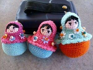 Amigurumi Russian Doll Pattern : Free amigurumi matryoshka nesting doll crochet pattern and
