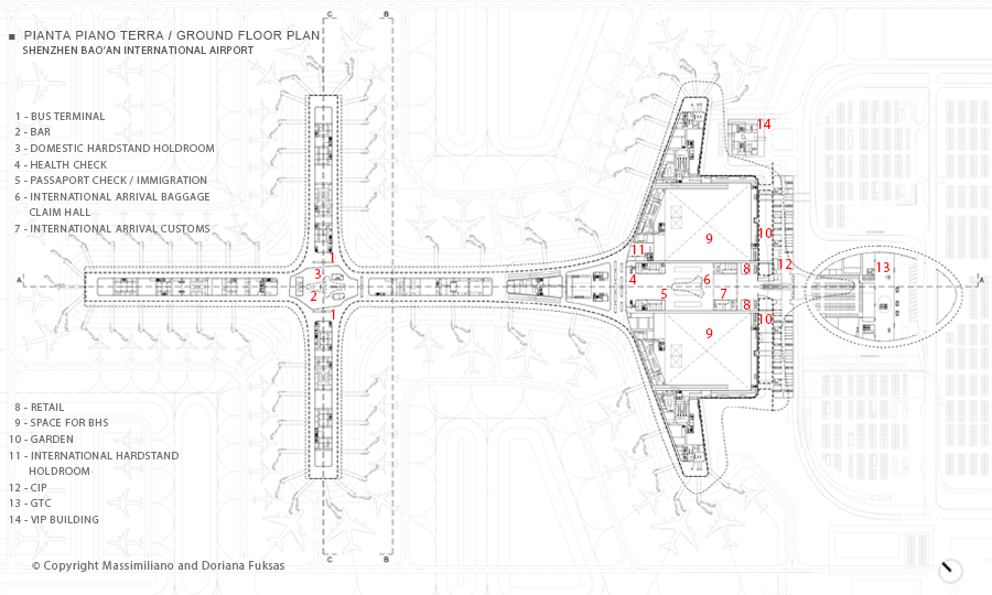 Terminal 3 Of Shenzhen Bao39an International Airport Plan