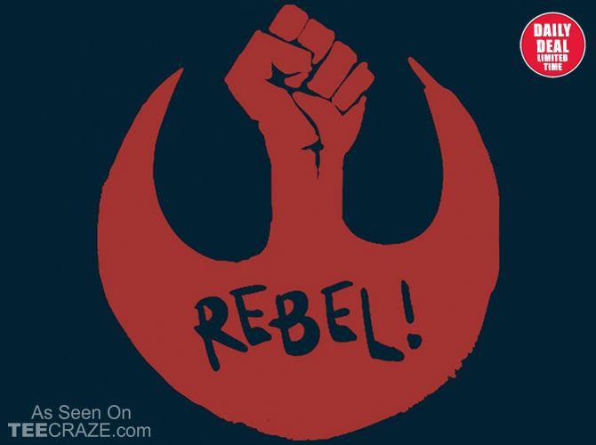 Rebel T-Shirt - http://teecraze.com/daily-deal-4/ - Designed by Nevun Dungeon #art #tshirt #fashion #starwars
