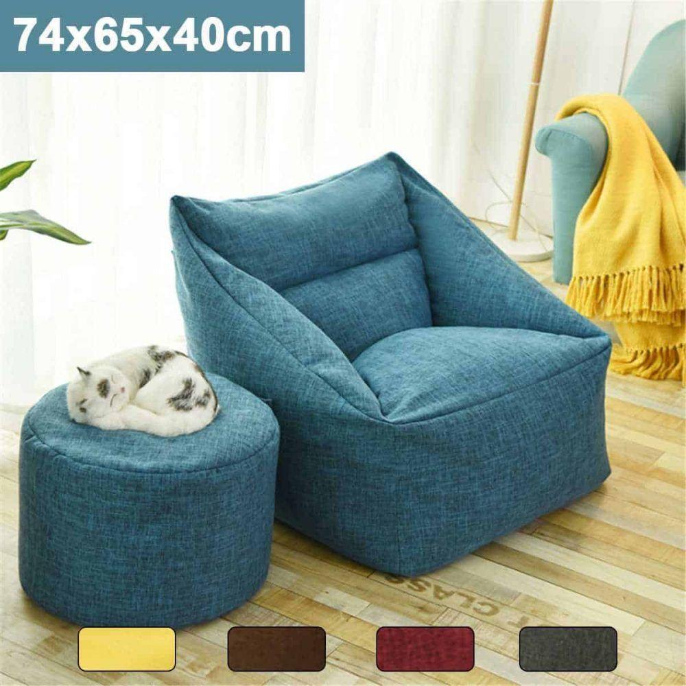 Waterproof Bean Bag Lazy Sofa Beanbag Sofas Indoor Seat Chair Cover In 2020 Bean Bag Chair Bean Bag Sofa Lazy Sofa