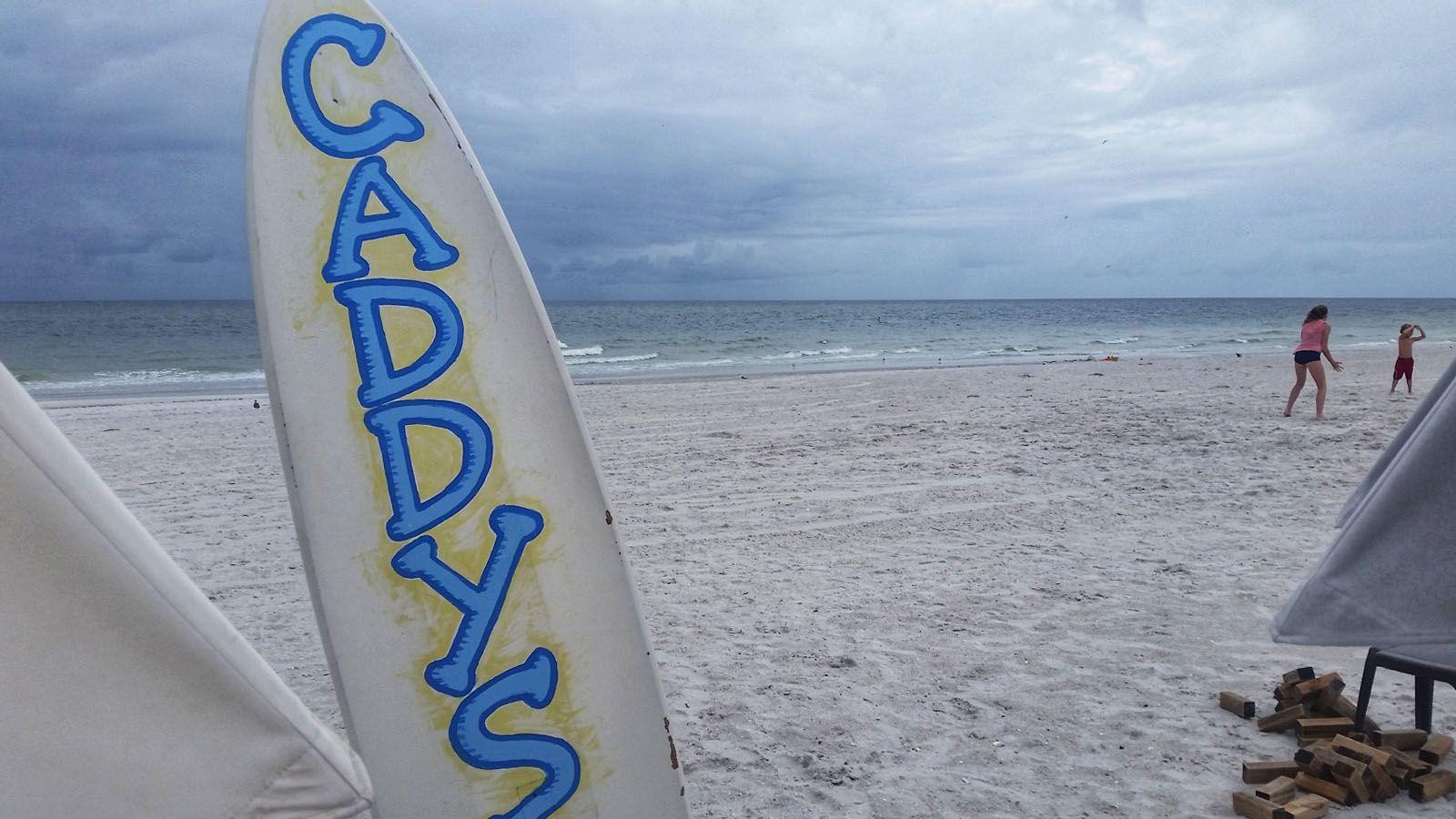 Beach bar pic of the week caddys on the beach treasure