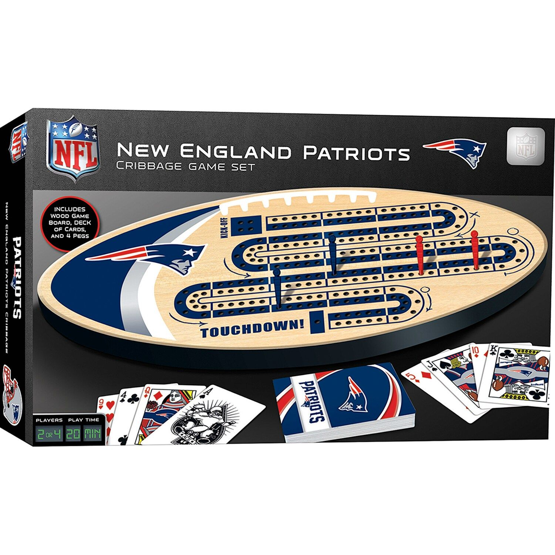 New EnglandPatriots Cribbage Game Set Affiliate Patriots