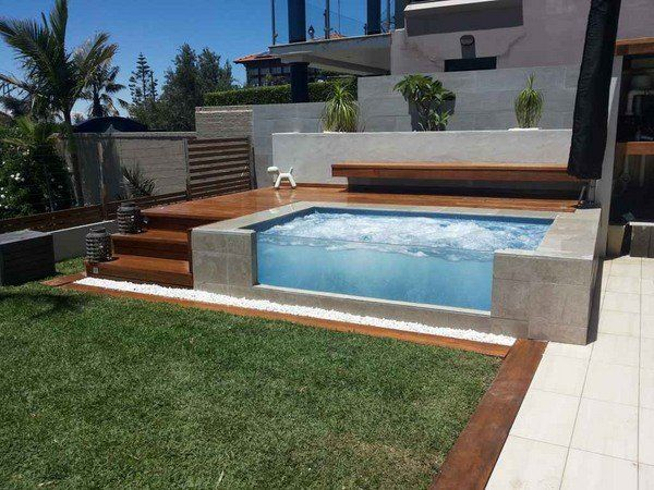 modern above ground pool deck ideas wooden sundeck patio design