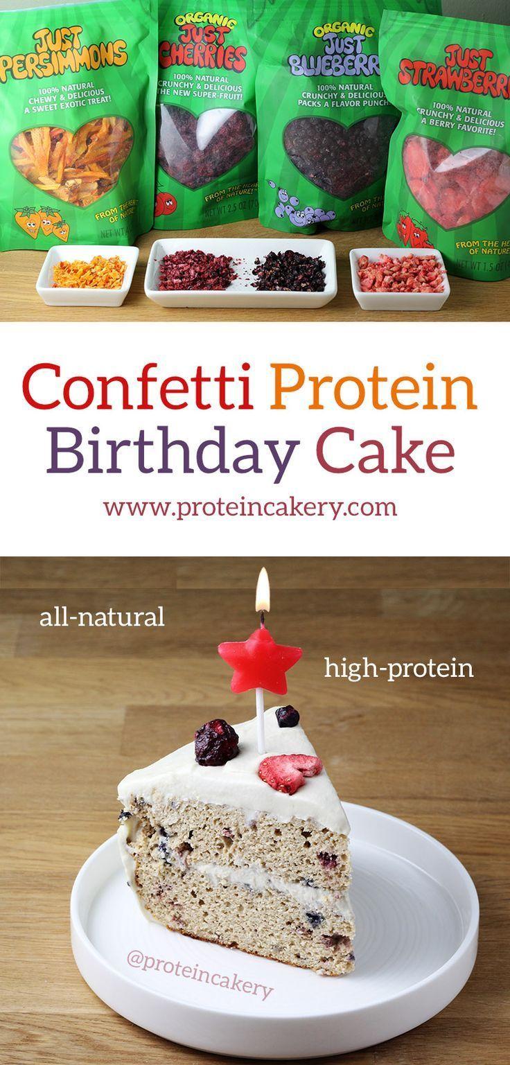 Confetti Protein Birthday Cake