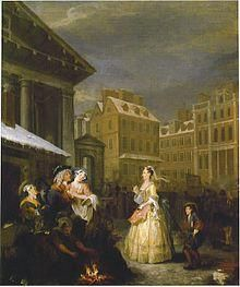 William Hogarth Morning From The Series Four Times Of The Day