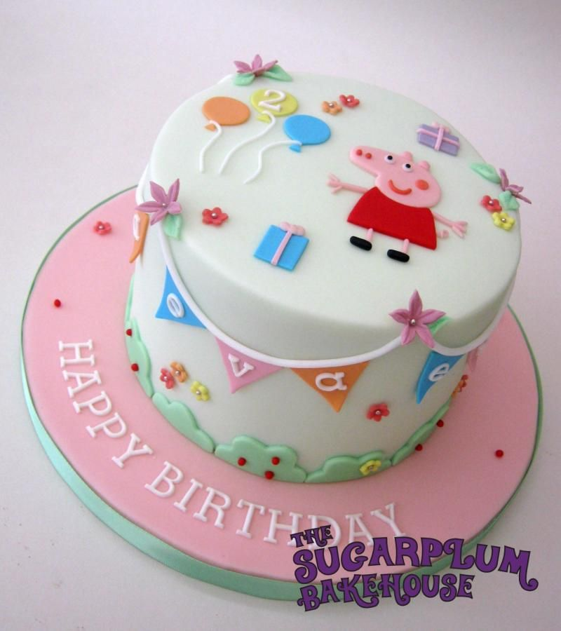 Cute Simple Peppa Pig Birthday Cake Cake By Sam Harrison With
