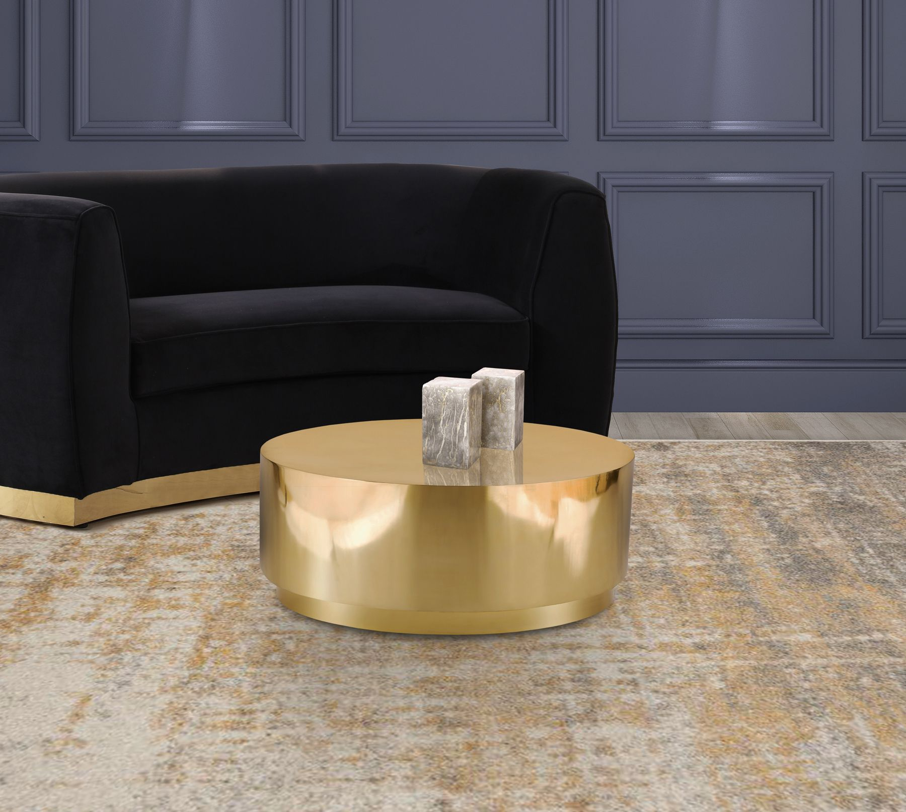 Jazzy Coffee Table 281 Meridian Furniture Coffee Tables In 2021 Gold Coffee Table Coffee Table Meridian Furniture [ 1614 x 1800 Pixel ]