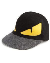 303e8a5ec3dc40 Fendi | Monster Wool Baseball Cap | accessories | Fendi, Mens ...