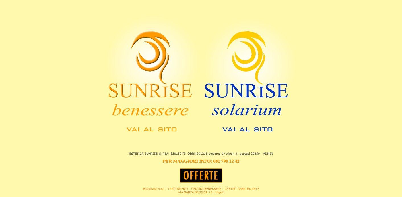 Sito web realizzato per  centro estetico  Sunrise