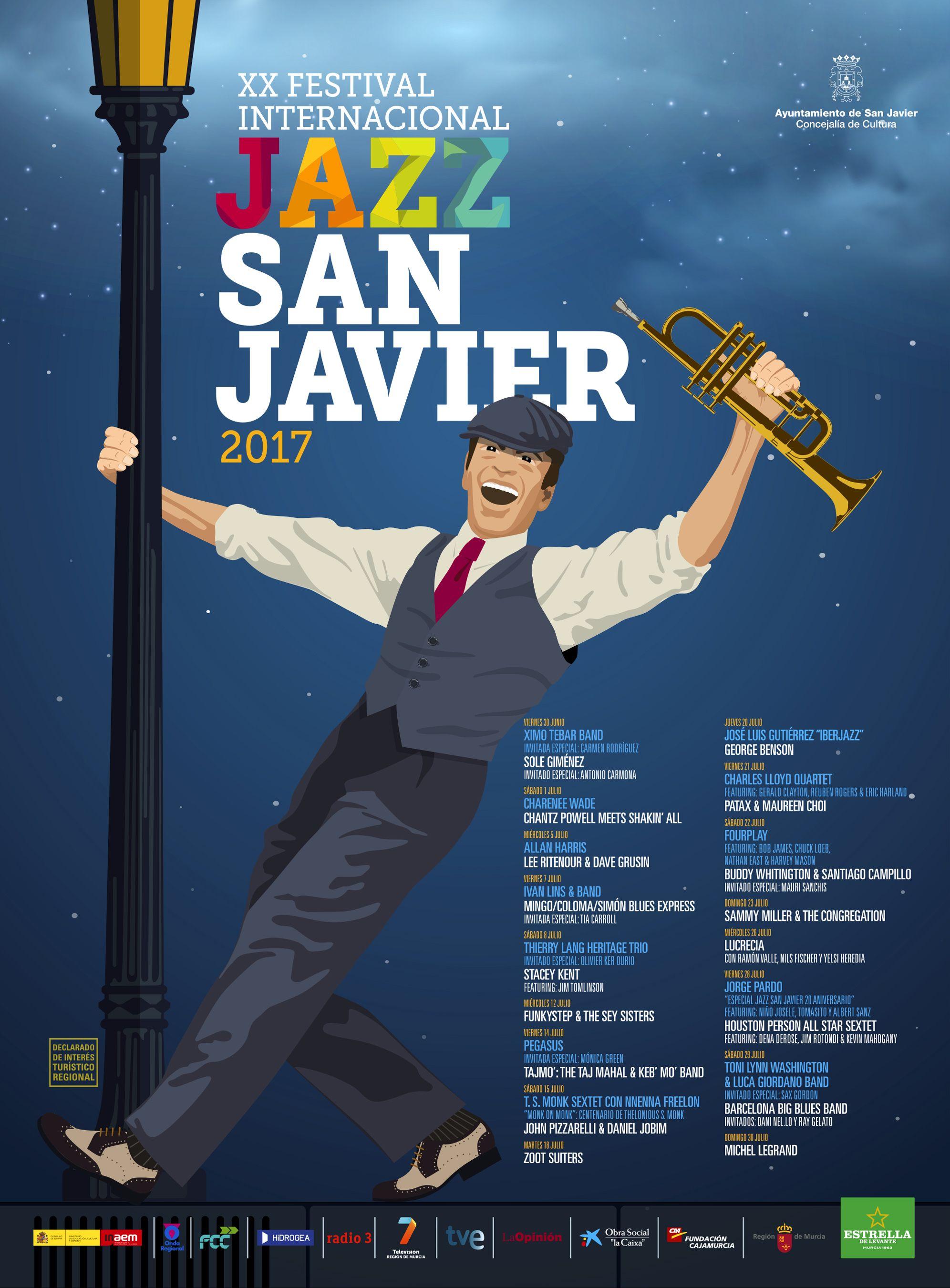 Cartel Jazz San Javier 2017 By Grafyco Ilustración Musical Musical Jazz