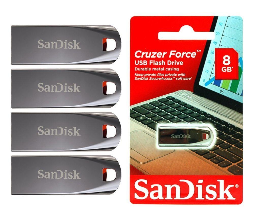Lot Of 4 Sandisk Cruzer Force 8 Gb 8g Usb 20 Flash Drive Memory Flashdisk Vandisk 8gb Advance Stick Wholesale