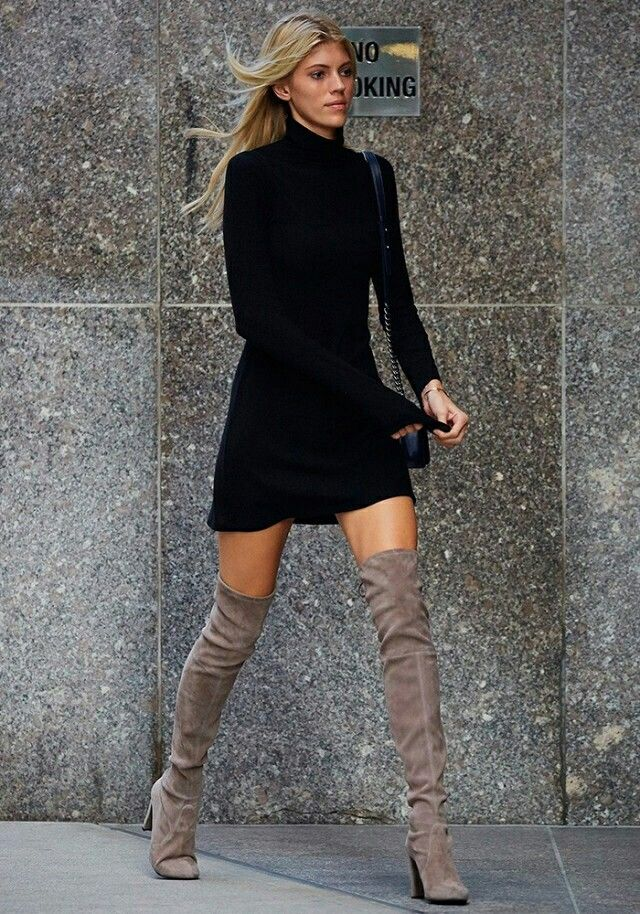 Kleid stiefel winter