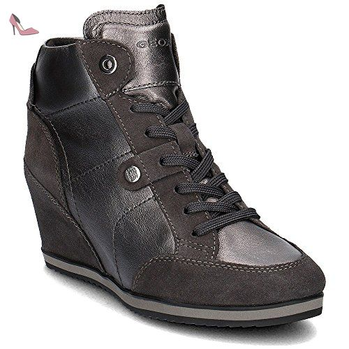 Geox Illusion, Baskets mode femme - Noir (Black), 41 EU