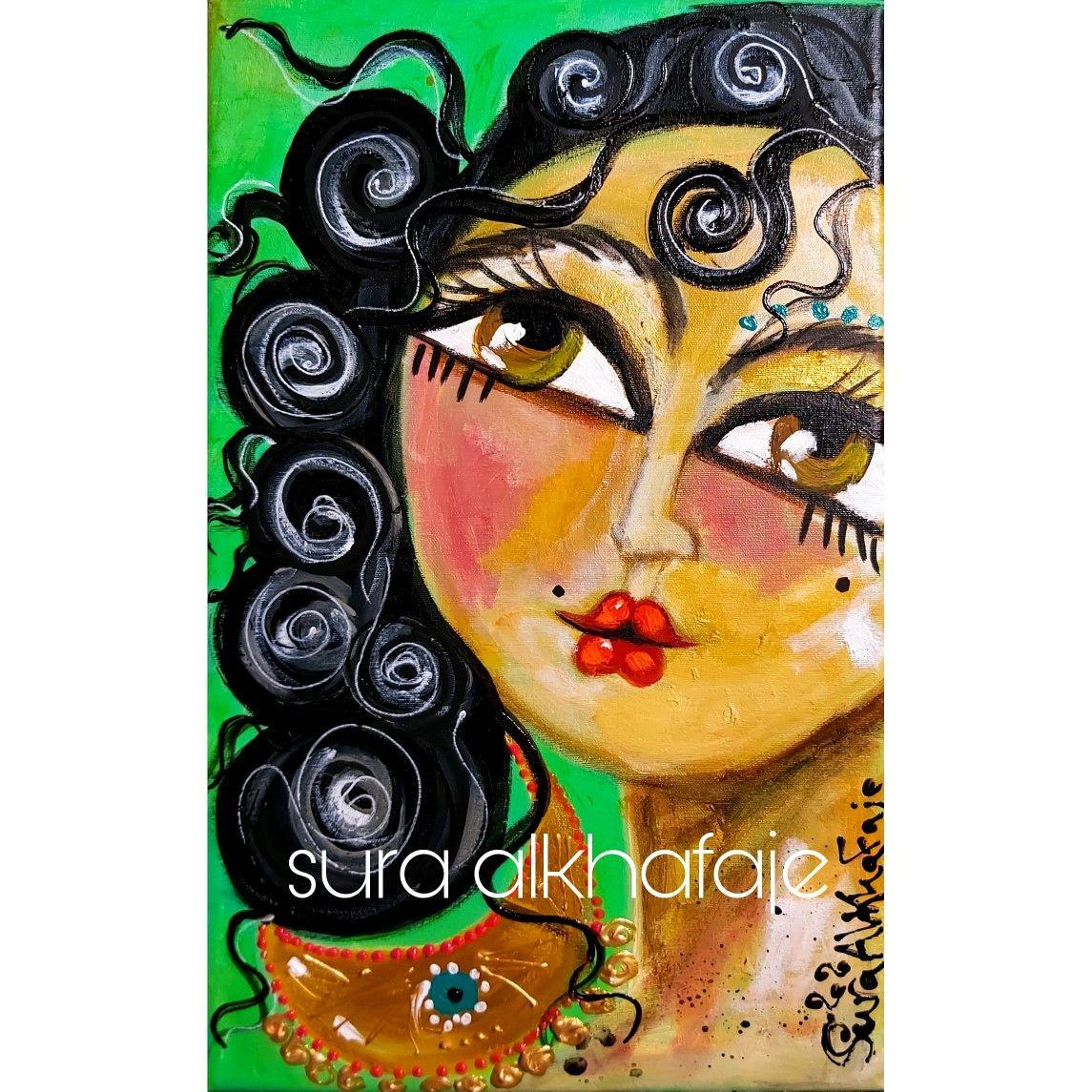 رمانة لوحة حجم صغير Acrylic On Canvas سرى الخفاجي لوحات فن تشكيلي عراقي بغداد رمانة Erbi Painting Acrylic Painting Art