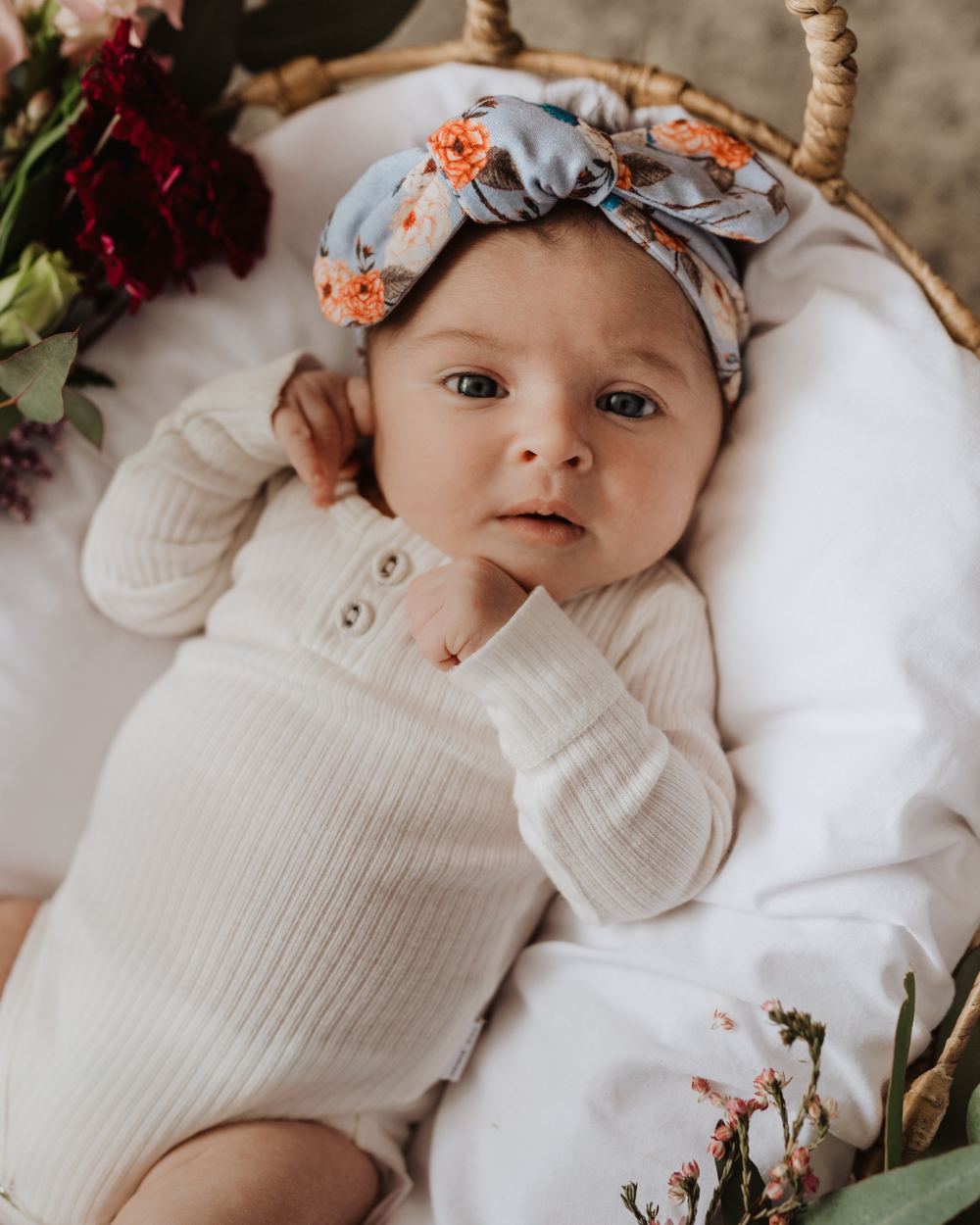 Vintage Blossom Topknot Baby Headband   Snuggle Hunny Kids
