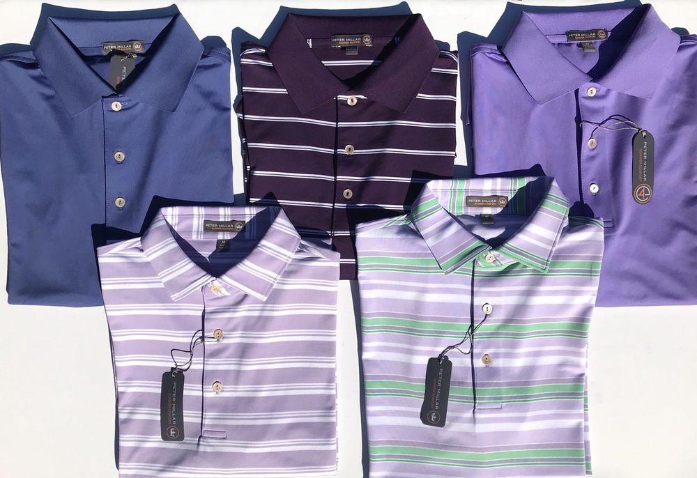 90976d89da3 NEW Men s Peter Millar Summer Comfort E4 Per4mance Purple Polo Golf Shirt  Size M
