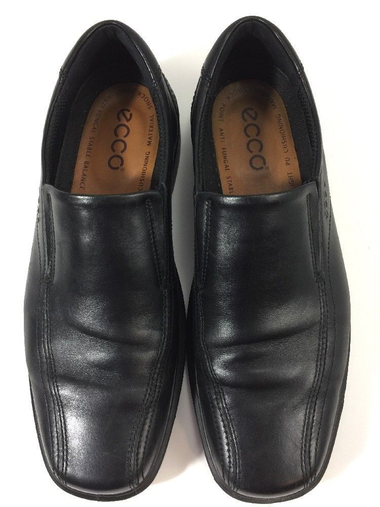 317d7b64f3d Ecco Men s Black Leather Loafers Comfort Bike Toe Slip On SIZE 44 US Size  11  fashion  clothing  shoes  accessories  mensshoes  casualshoes  ad (ebay  link)