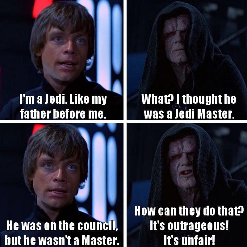 Haha Prequels Star Wars Quotes Funny Star Wars Memes Star Wars Memes