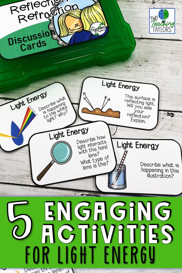 Light Energy Activities Bundle Reflection And Refraction Light Energy Activities Energy Activities Light Energy