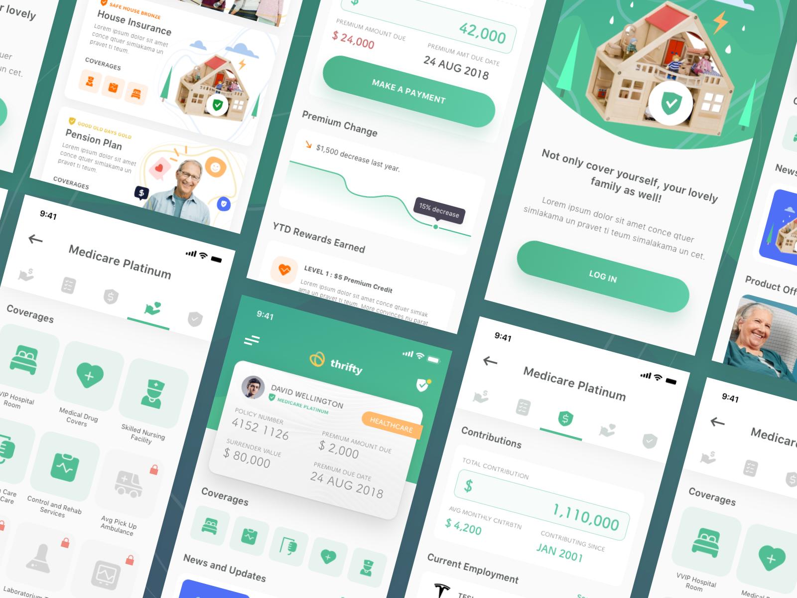 Thrifty Insurance App Medical App App Design Web App Design