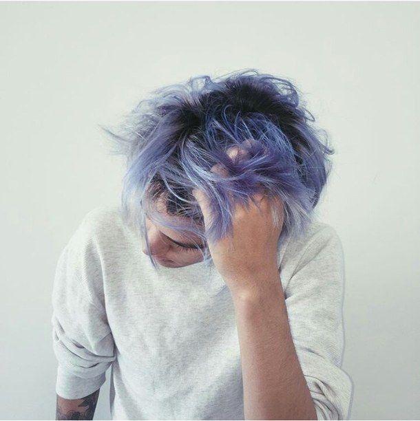 Kieran Kingson Light Blue Hair Men Hair Color Dyed Hair Men
