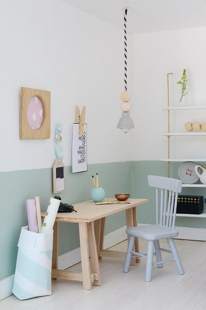 Photo of Mini Arbeitsplatz für das Puppenhaus #dollhousefurniture #puppenhaus