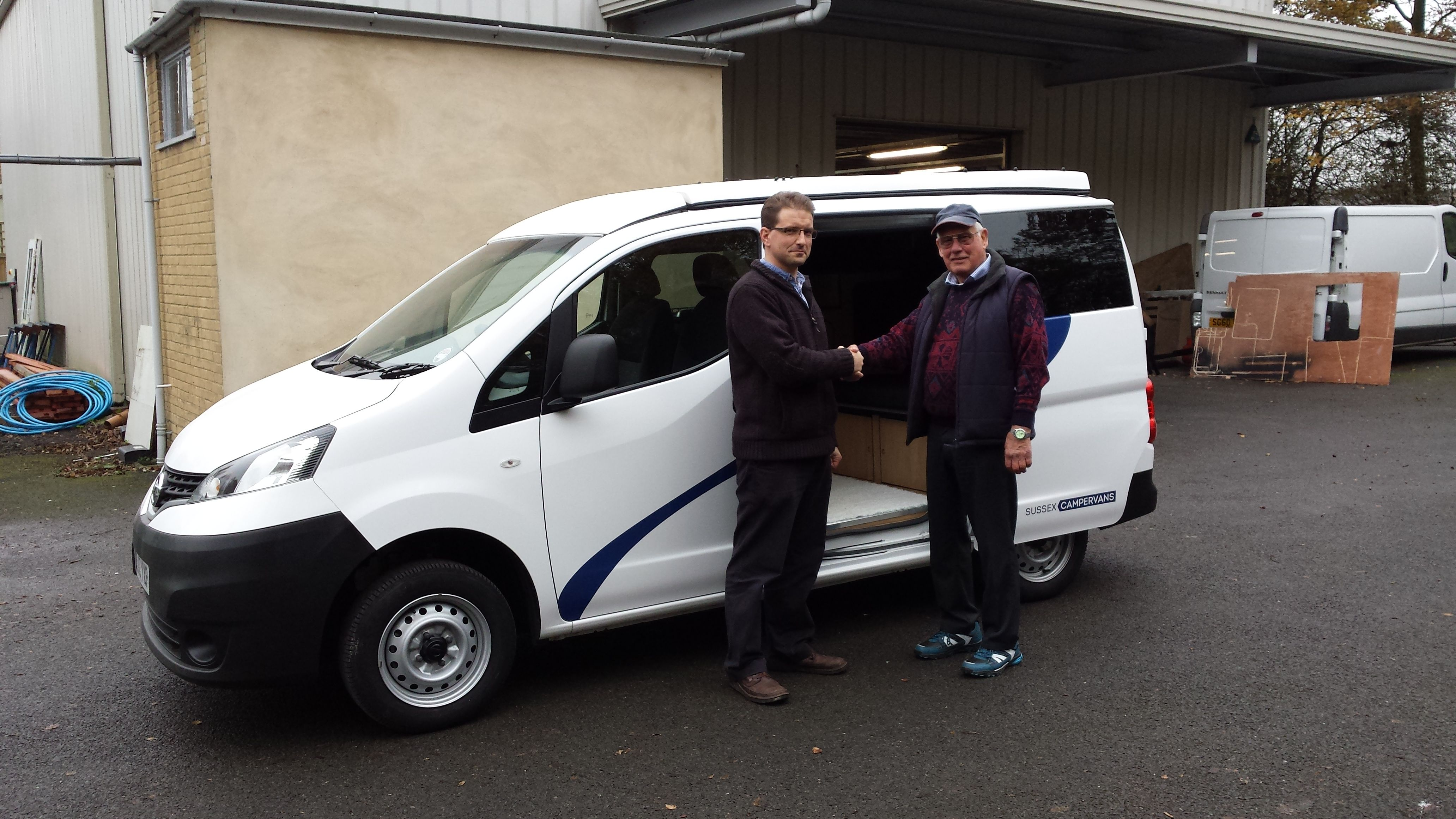 Brian collected his nv200 campervan conversion from us recently as well we love his choice