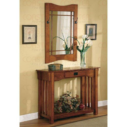 2pcs Mission Style Entry Way Foyer Console Table U0026 Mirror Set By Coaster  Coaster Home Furnishings,http://www.amazon.com/dp/B001EQL5BC/refu003d ...