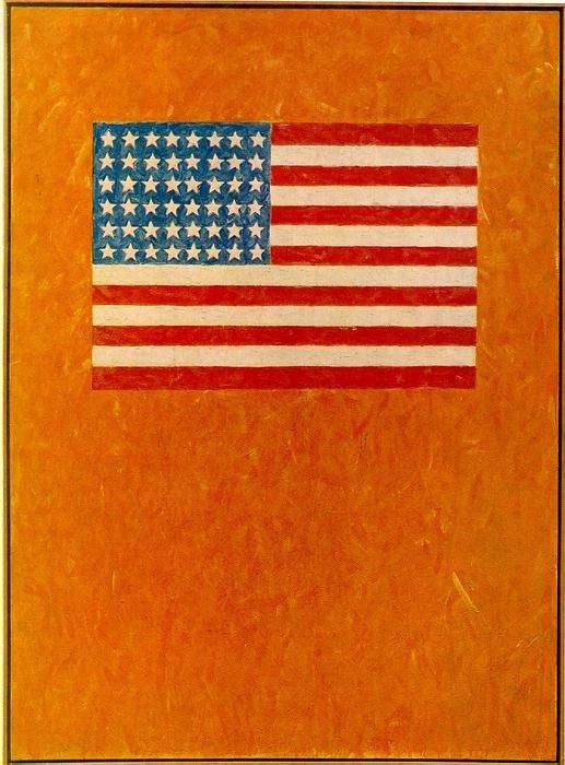 Flag On Orange Field Oil On Canvas By Jasper Johns Jasper Johns Flag Art Art