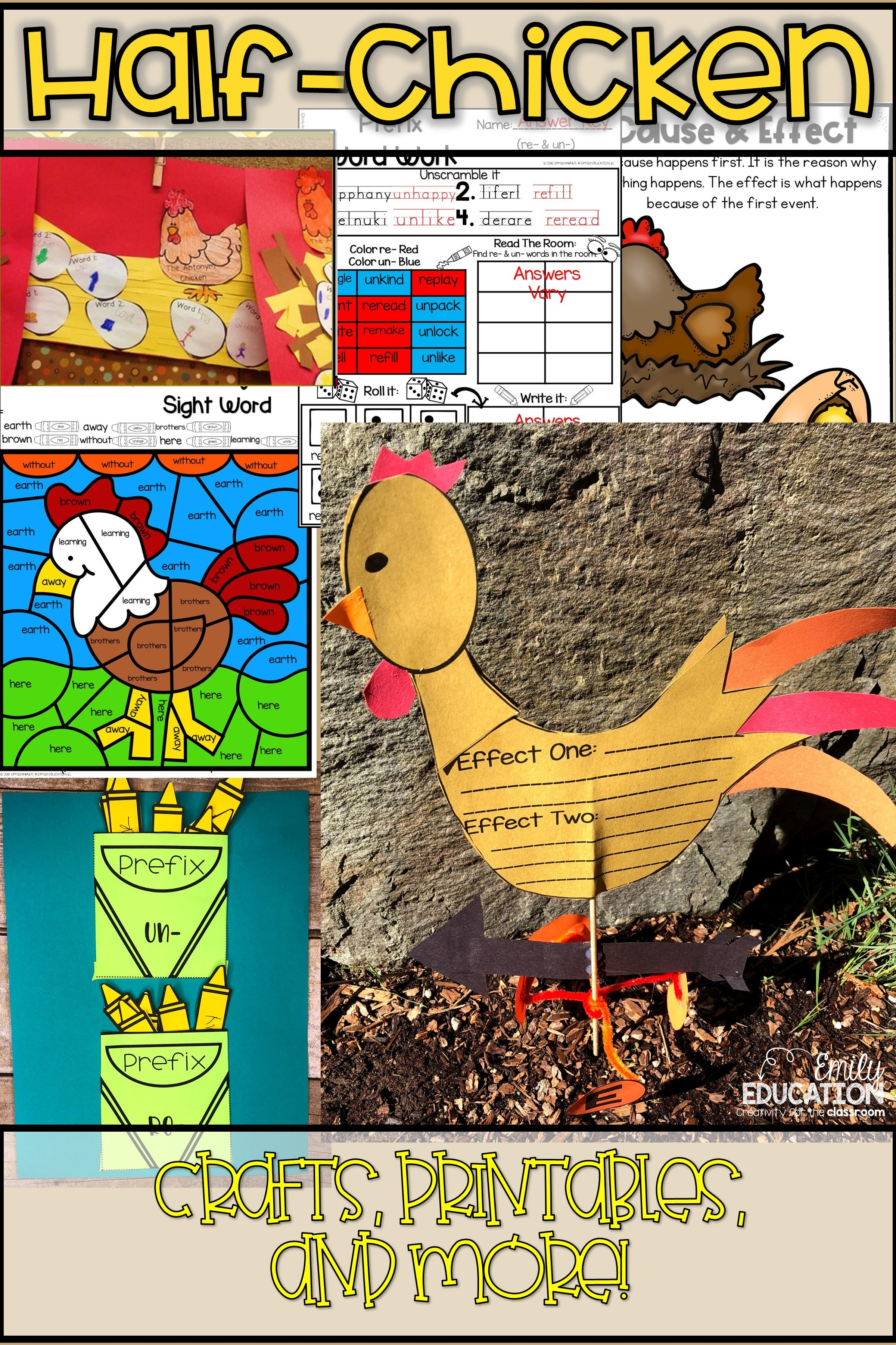 Half Chicken Activities Journeys 2nd Grade Lesson 24