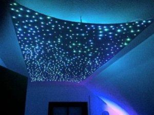Amzdeal Fibre Optique Star Skylight 5w Rgb Led Star Sky 240 Fibre Optique Ciel Etoile Eclairage Led Serie P Plafond Etoile Eclairage Fibre Optique Ciel Etoile