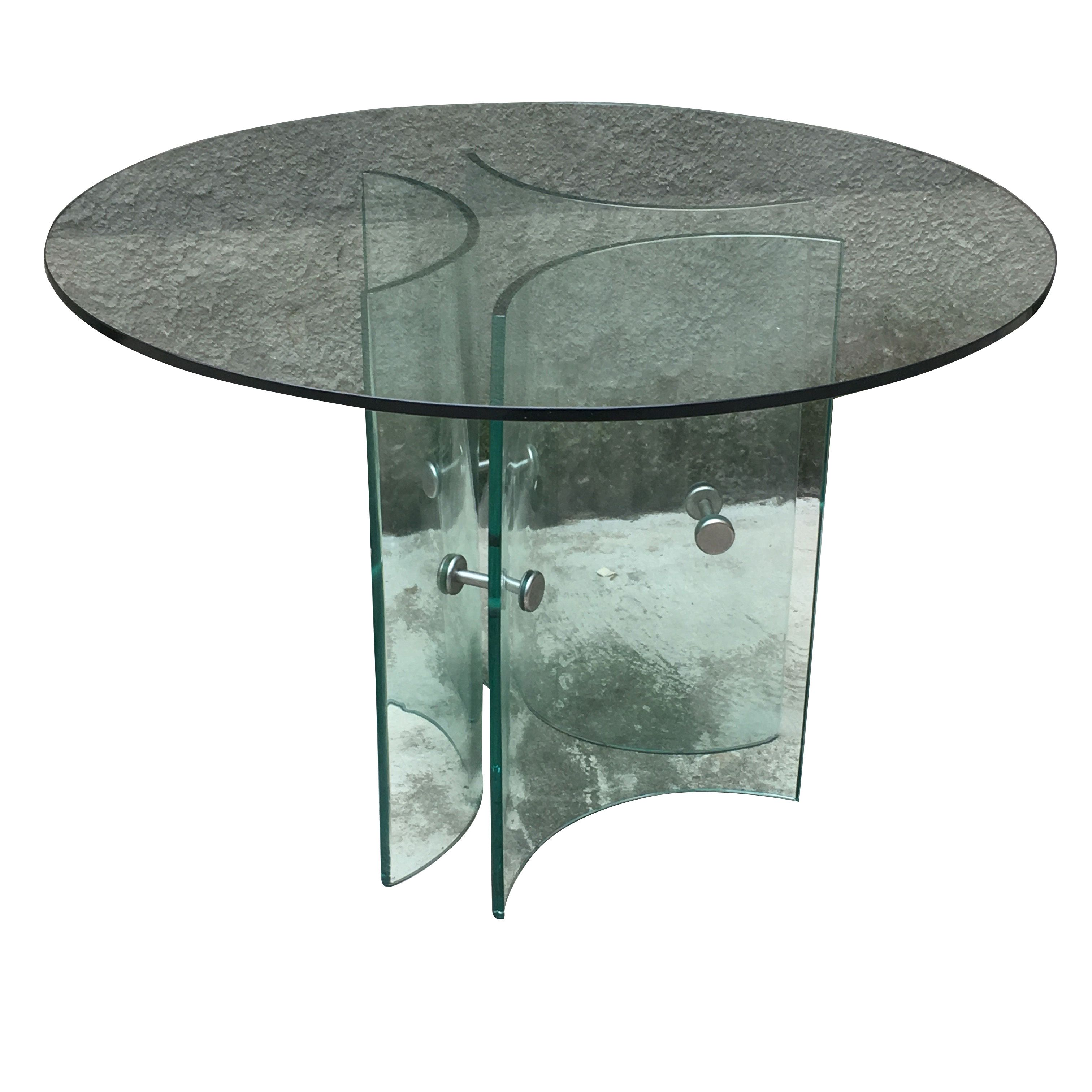 Round Table In Glass Italian Manifacture 60 S Round Table Table Glass [ 3024 x 3024 Pixel ]
