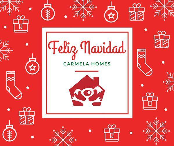 Desde Carmela Homes queremos felicitarles las fiestas y desearles que pasen una feliz #Navidad.