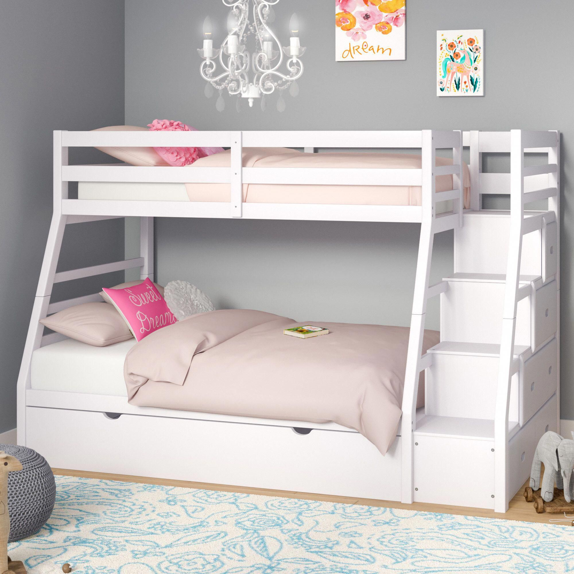 Reece Twin Over Full Bunk Bed With Trundle With Images Bunk