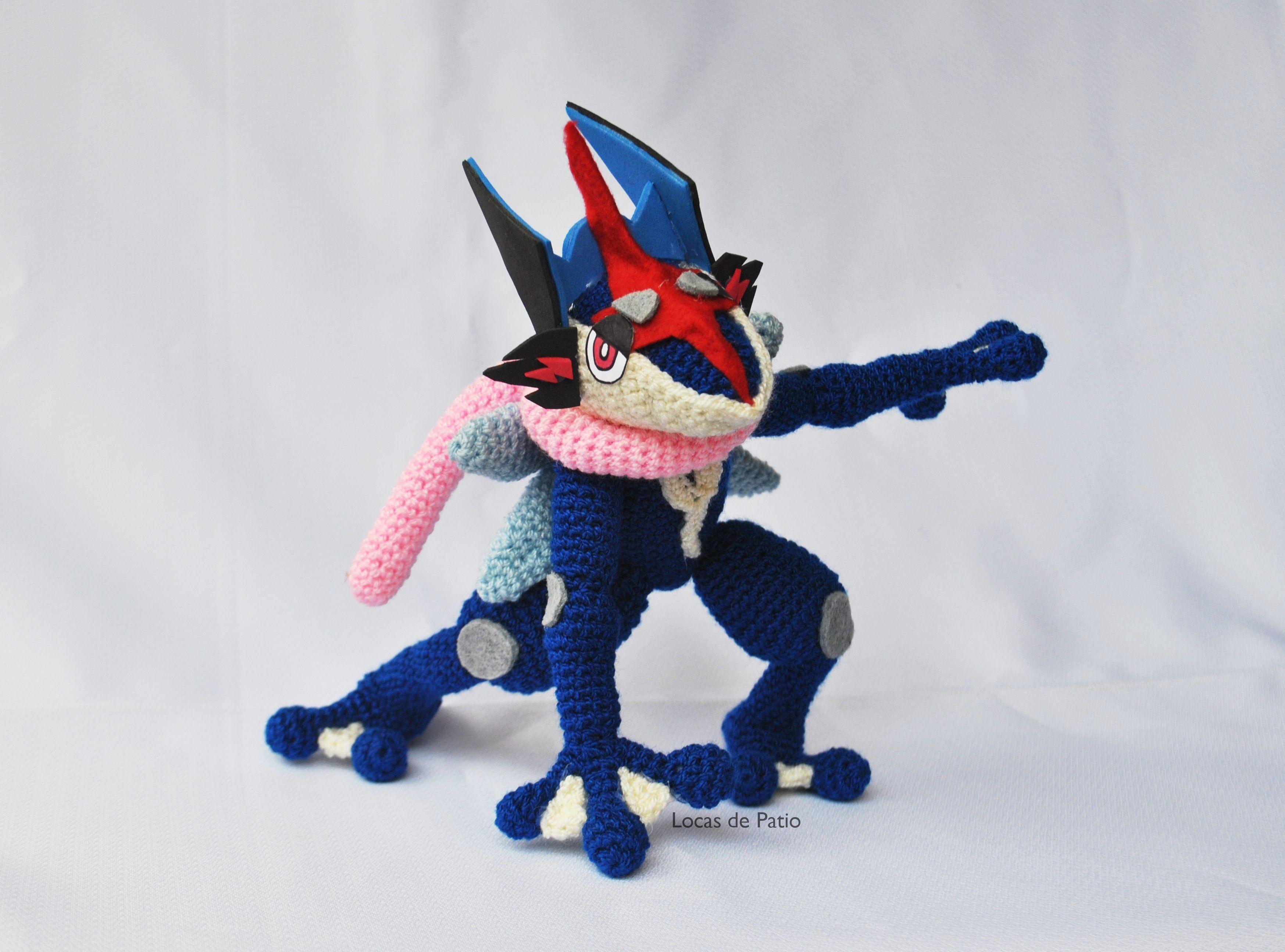 Amigurumi Greninja de Pokémon, tejido por Locas de Patio. | Locas de ...