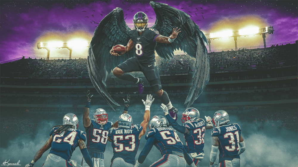 Lamar Jackson graphic for Bleacher Report on Behance