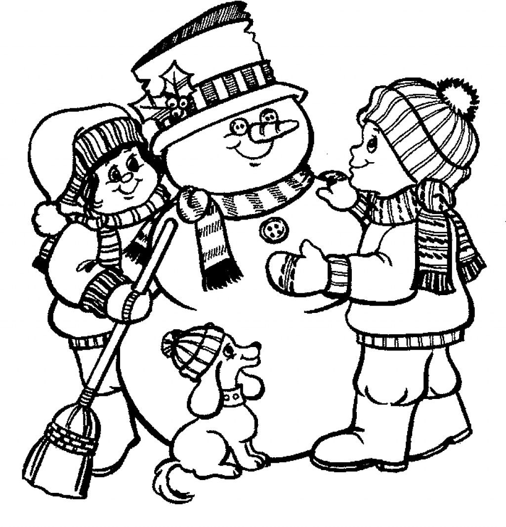 Online Snowman Coloring Page Printables Christmas