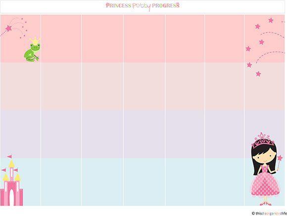 free printable friday princess potty progress sticker chart