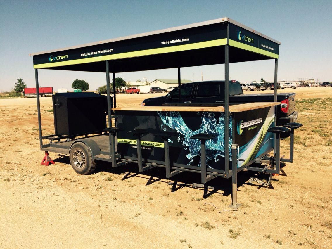 Tailgate Trailer Tailgating trailers, Bbq smoker trailer