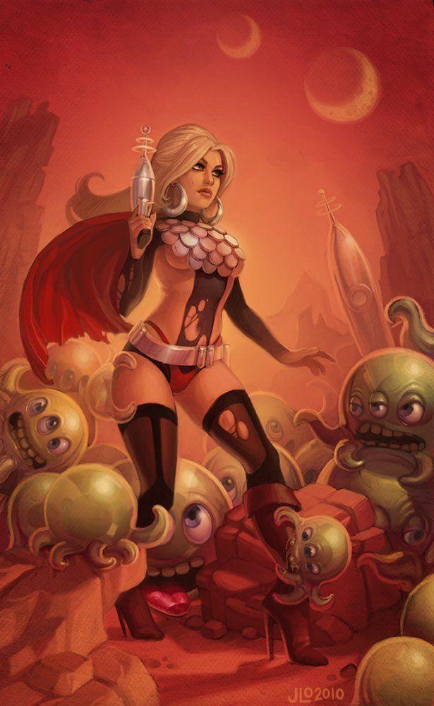 Sci Fi Girl Woman Heroine Comic Book French Aliens