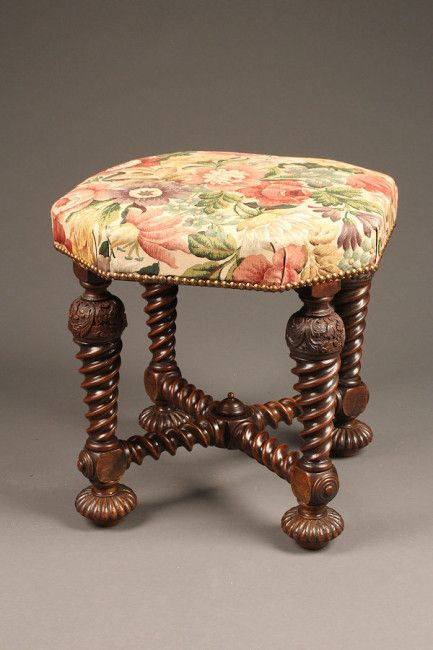 19th century louis xiii style french stool antique benches rh pinterest com