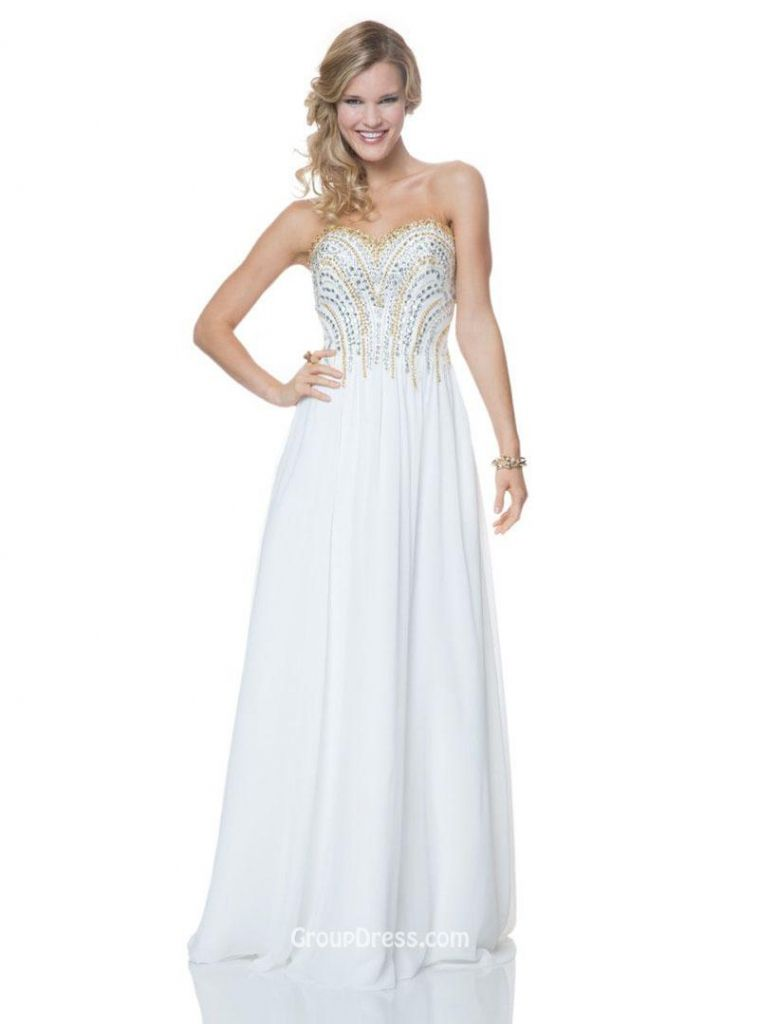 Expensive White Prom Dresses