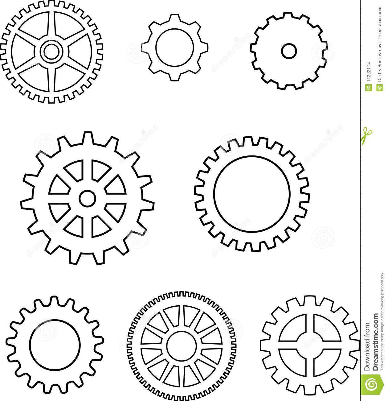 gear template google search gears clocks keys silhouettes